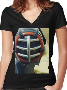 The Kendo Fighter Women's Fitted V-Neck T-Shirt