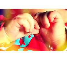 little baby's hands Photographic Print