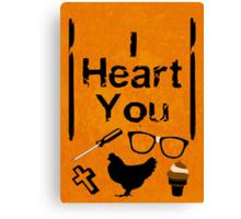 I Heart You - OITNB Canvas Print