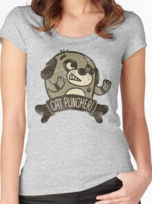 Cat Puncher! Women's Fitted Scoop T-Shirt