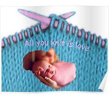 Knitting Love Poster