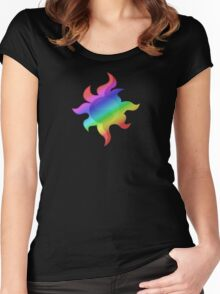 MLP - Cutie Mark Rainbow Special - Sunset Shimmer V3 Women's Fitted Scoop T-Shirt