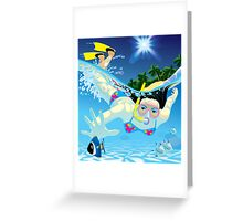 Diving girl Greeting Card