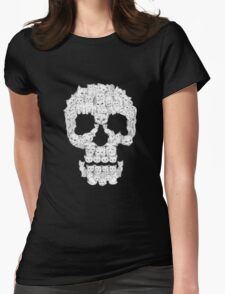 Skull Are for Pussies EDR 878  Womens Fitted T-Shirt
