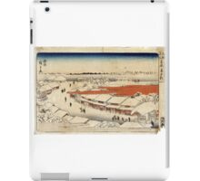 Morning Snow At Yoshiwara - Hiroshige Ando - c1850 - woodcut iPad Case/Skin