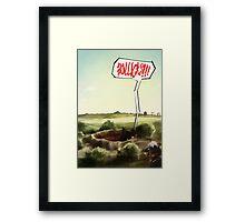 BOLLICKS!!! Framed Print