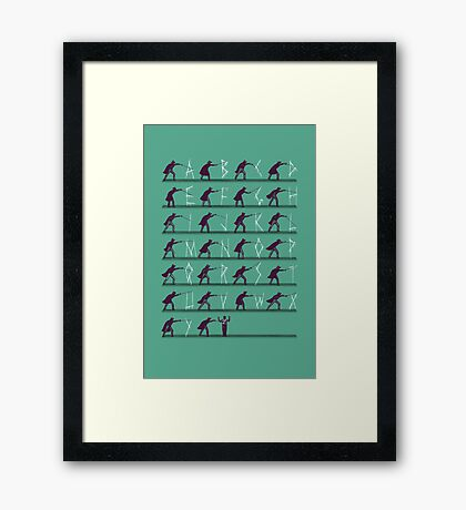 From A to Zorro Framed Print