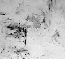 Black and White Abstract Sleek and Chic Painting SNAPSHOT by hollyanderson