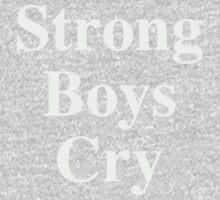 Strong Boys Cry Grey  One Piece - Short Sleeve
