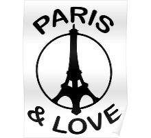 Paris & Love Poster