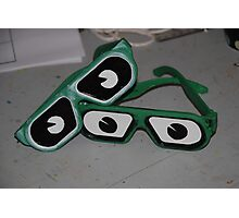 Glasses with eyes Photographic Print