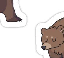 mini bears Sticker
