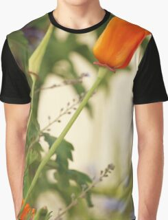California Poppies In The Garden Graphic T-Shirt