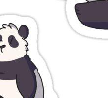 mini pandas Sticker