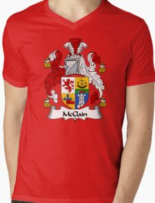 McClain Coat of Arms / McClain Family Crest Mens V-Neck T-Shirt