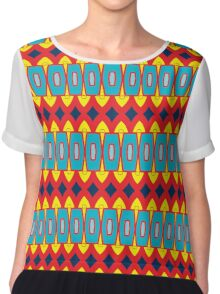 Rhombus and other shapes pattern Chiffon Top