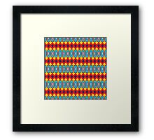 Rhombus and other shapes pattern Framed Print