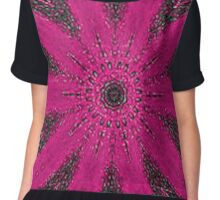 Starburst on Steroids - Hot Pink Chiffon Top