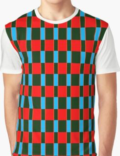 Black red rectangles pattern Graphic T-Shirt