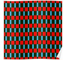 Black red rectangles pattern Poster