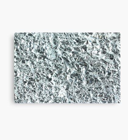 crumpled tin foil Canvas Print