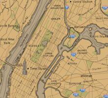 Map of New York - Tolkien Inspired Sticker