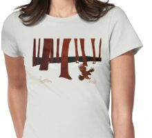 Panic  in the woods Womens Fitted T-Shirt