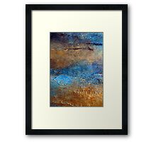 """Abstract Print of Zen Wall Art Seascape Painting by Holly Anderson Artist """"COVE"""" Framed Print"""