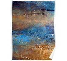 """Abstract Print of Zen Wall Art Seascape Painting by Holly Anderson Artist """"COVE"""" Poster"""