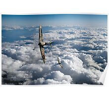 Spitfires turning in Poster
