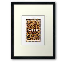 Leopard <3 Framed Print
