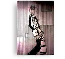 Dreamy girl listening to music Canvas Print