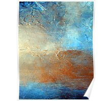 "Abstract Wall Art of  Original Abstract Landscape Seascape Painting by Holly Anderson ""OUTLOOK"" Poster"