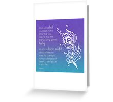 Time Does Not Heal Grief Greeting Card