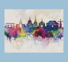Leiden skyline in watercolor background Baby Tee