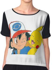 Ash and Pikachu Chiffon Top