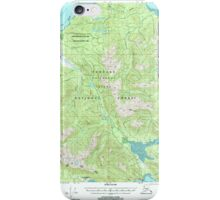 USGS TOPO Map Alaska AK Juneau A-6 356322 2000 63360 iPhone Case/Skin