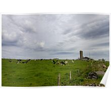 Dairy Farm and a Stormy Sky Poster