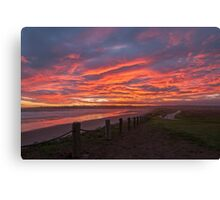 Sunset at Mavillette Canvas Print
