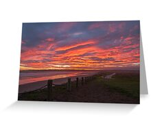 Sunset at Mavillette Greeting Card