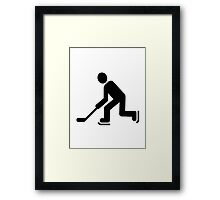Hockey Player symbol Framed Print