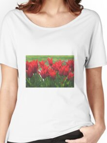 Red flowers Women's Relaxed Fit T-Shirt