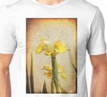 Yellow and White Iris textured Unisex T-Shirt