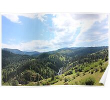 Clearwater River - south fork and hwy 14 going to Elk City Poster
