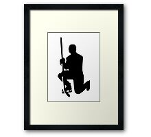Hockey player winner champion Framed Print