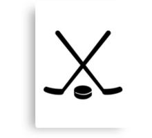 Hockey sticks puck Canvas Print