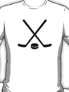 Hockey sticks puck T-Shirt