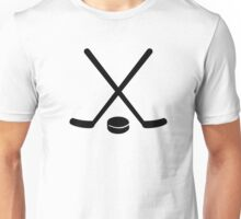 Hockey sticks puck Unisex T-Shirt