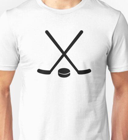 Hockey sticks puck Unisex T-Shirt