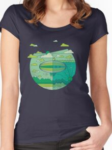 As Above, So Below (Spring Edition) Women's Fitted Scoop T-Shirt